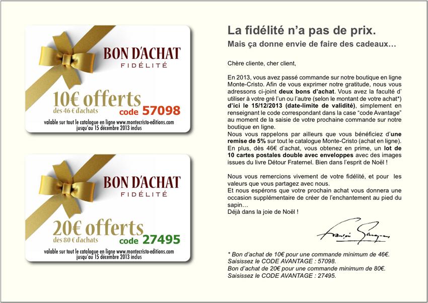 Lettre information for Bon d achat id garage