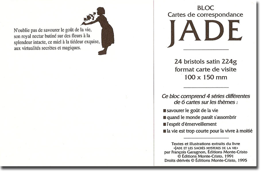 Monte Cristo Ditions Cartes De Correspondance Jade