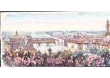 Aquarelle «Firenze au printemps, panorama» (Italie) (Alphonse Puthod)